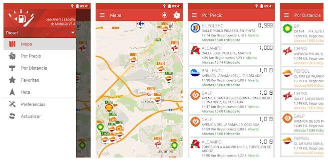 App coche Gasolineras España