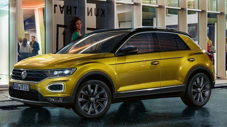Vista lateral del Volkswagen T-Roc de segunda mano